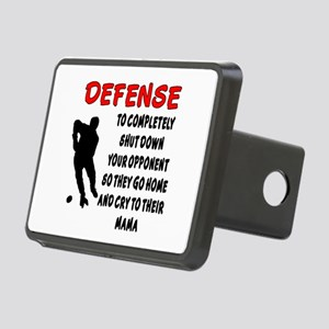 DEFENSE SHUT DOWN OPPONENT Rectangular Hitch Cover