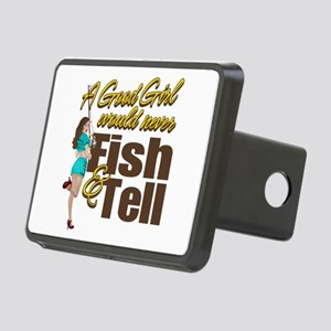 Good Girls Never Fish & Tell Rectangular Hitch Cov