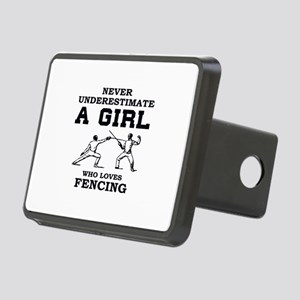 Never Underestimate A Girl Rectangular Hitch Cover