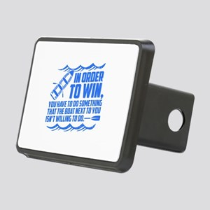 Rowing Saying Rectangular Hitch Cover