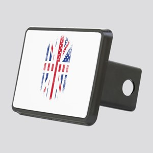 British American Flag Br Rectangular Hitch Cover