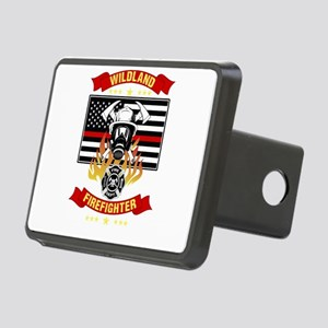 Wildland Firefighter Hero Rectangular Hitch Cover