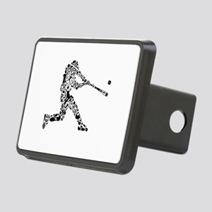 Baseball Player (in black) Rectangular Hitch Cover
