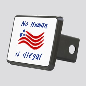 No Human Is Illegal Rectangular Hitch Cover