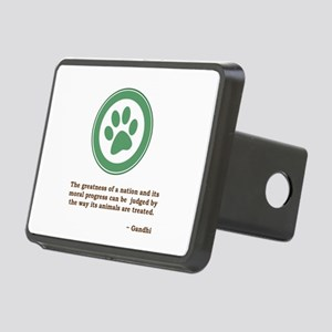 Gandhi Green Paw Rectangular Hitch Cover