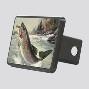 Vintage Fishing, Rainbow T Rectangular Hitch Cover