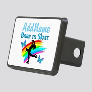 BORN TO SKATE Rectangular Hitch Cover