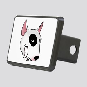 bull terrier head Rectangular Hitch Cover