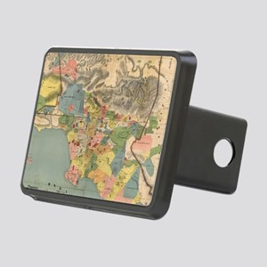 Vintage Map of Los Angeles Rectangular Hitch Cover