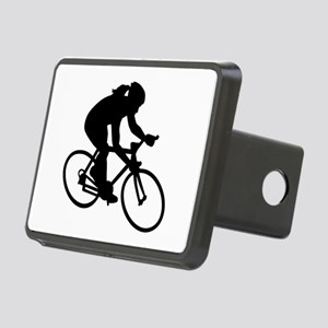 Cycling woman girl Rectangular Hitch Cover