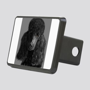 standard poodle black Hitch Cover