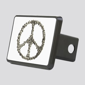 Skulls Peace Sign Rectangular Hitch Cover