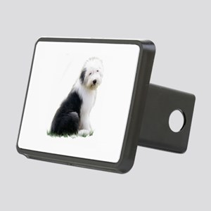 old english sheepdog puppy sitting Hitch Cover