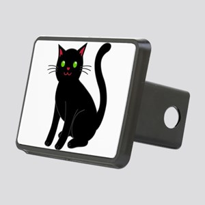 Black cat Rectangular Hitch Cover