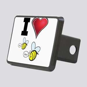 I Love Boo Bees Rectangular Hitch Cover