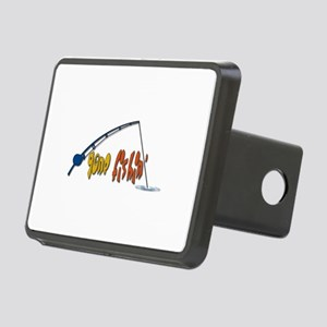 Funny Fishing Humor Rectangular Hitch Cover