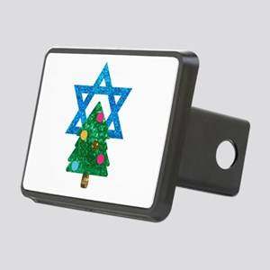 glitter christmukkah Rectangular Hitch Cover