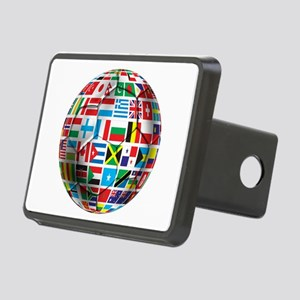 World Soccer Ball Rectangular Hitch Cover