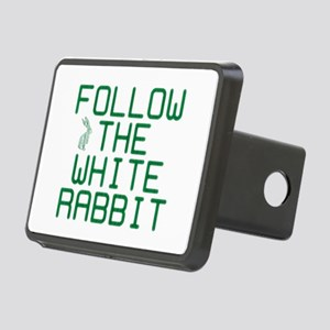 Follow the White Rabbit Rectangular Hitch Cover