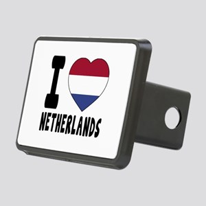 I Love Netherlands Rectangular Hitch Cover
