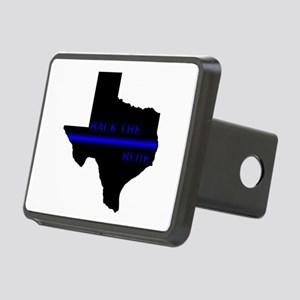 Thin Blue Line Back The Blue Texas Hitch Cover