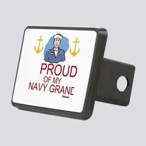 Proud Of My Navy Grandson Rectangular Hitch Cover