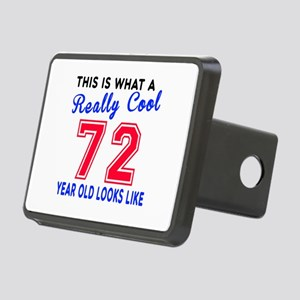 Really Cool 72 Birthday De Rectangular Hitch Cover
