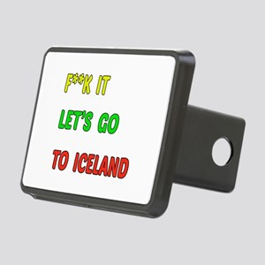 Let's go to Iceland Rectangular Hitch Cover