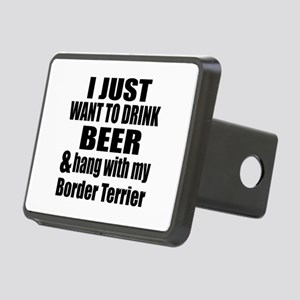 Hang With My Border Terrie Rectangular Hitch Cover