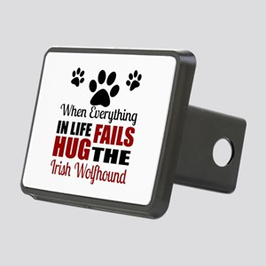 Hug The Irish Wolfhound Rectangular Hitch Cover