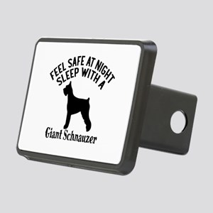 Sleep With Giant Schnauzer Rectangular Hitch Cover