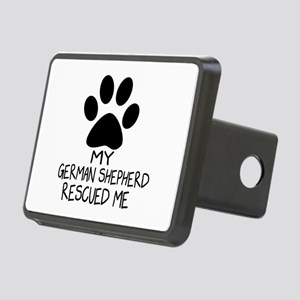 German Shepherd Rescued Me Rectangular Hitch Cover