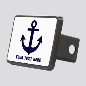 Nautical Anchor Personaliz Rectangular Hitch Cover