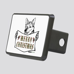 Merry Christmas Dog Rectangular Hitch Cover