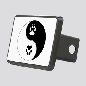 Yin Yang Paw Print Symbol Rectangular Hitch Cover