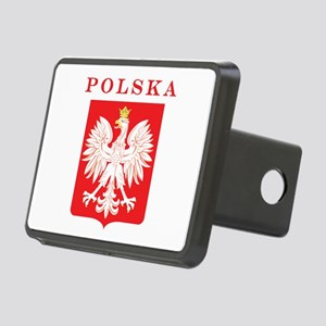 Polska Eagle Red Shield Rectangular Hitch Cover