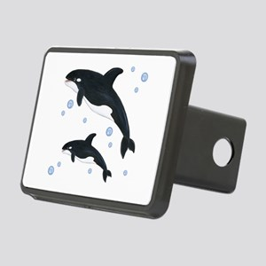 Killer Orca Whales Rectangular Hitch Cover