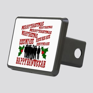 xmas vaca 2 Rectangular Hitch Cover