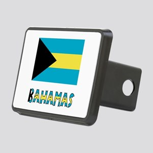 Bahamas Flag Word Rectangular Hitch Cover