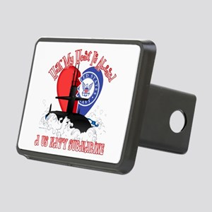 Half My Heart Rectangular Hitch Cover
