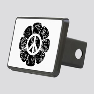 Peace Symbol Flower Rectangular Hitch Cover