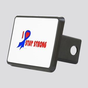 Blue I Heart/Support Stay Strong Rectangular Hitch