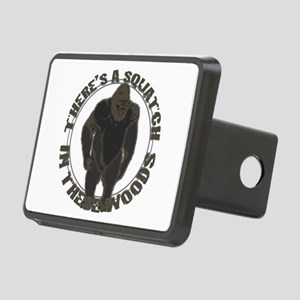 Bigfoot in woods Rectangular Hitch Cover