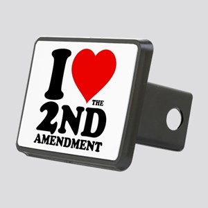 I Heart the 2nd Amendment Rectangular Hitch Cover