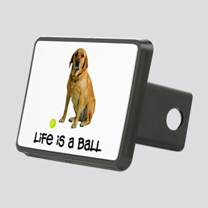 Yellow Lab Life Rectangular Hitch Cover