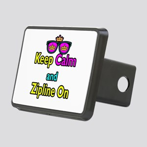 Crown Sunglasses Keep Calm And Zipline On Rectangu