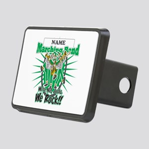 Marching Band Rocks(Green) Rectangular Hitch Cover