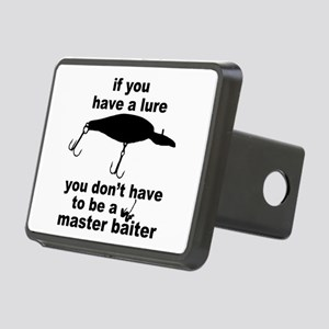 Fishing humor Rectangular Hitch Cover