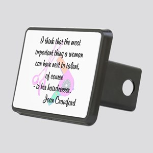FUN HAIR QUOTE Rectangular Hitch Cover