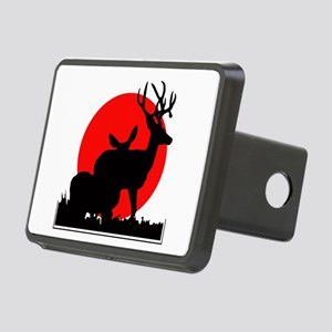 Drop tine buck skull Rectangular Hitch Cover